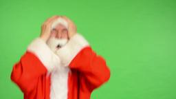 santa claus - green screen - studio - Santa Claus is angry Footage
