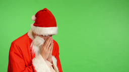 santa claus - green screen - studio - Santa Claus prays Footage