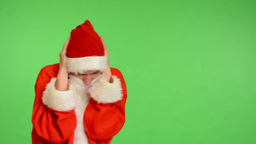 santa claus - green screen - studio - santa claus is annoyed Footage