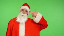 santa claus - green screen - studio - concept - Santa Claus kills himself Footage