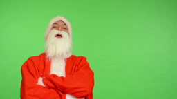 santa claus - green screen - studio - santa claus laughs Footage