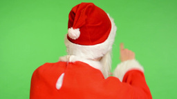 santa claus - green screen - studio - santa claus standing back - Santa Claus ch Footage