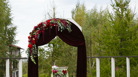 Wedding ceremony and wedding decorations, Live Action