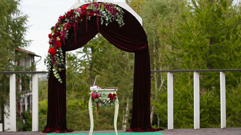 Wedding ceremony and wedding decorations Footage