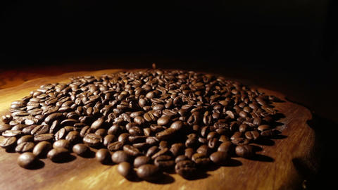 Pouring Coffee Beans Sslow Motion Footage