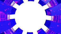 Circular frame purple blue white CG動画素材