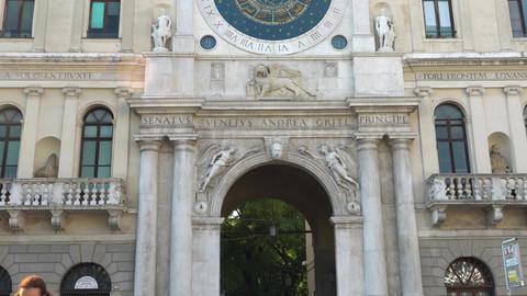 PADUA, ITALY - OCTOBER, 2017: The Palazzo del Capitanio, in the Piazza dei Live Action