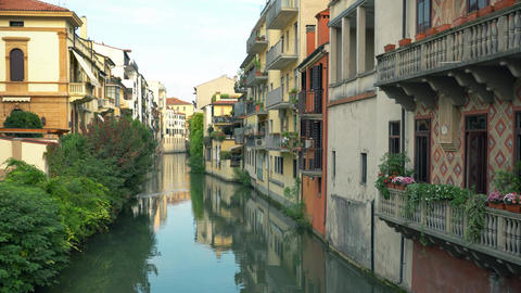 Channels and architecture of Padua. Padua, Padova is a city and comune in Veneto Live Action