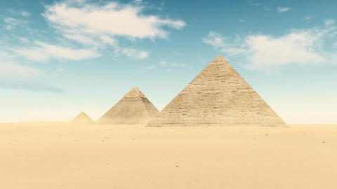 Egypt desert Great Pyramids of Giza timelapse Live Action