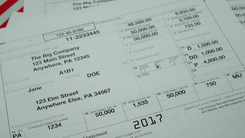 Wage and tax statement 2017 W-2 tax form Copy A Live Action