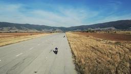 Sapareva Banya, Bulgaria - October 15, 2017: High end biker in action training Footage