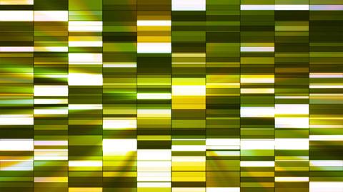 Twinkling Horizontal Small Squared Hi-Tech Bars, Green, Abstract, Loopable, 4K Animation