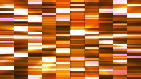 Twinkling Horizontal Small Squared Hi-Tech Bars, Orange, Abstract, Loopable, 4K CG動画素材