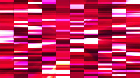 Twinkling Horizontal Small Squared Hi-Tech Bars, Red, Abstract, Loopable, 4K CG動画素材