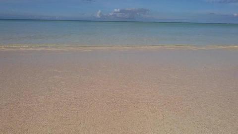 Okinawa sea ocean 海 砂浜 波打ち際 ビデオ
