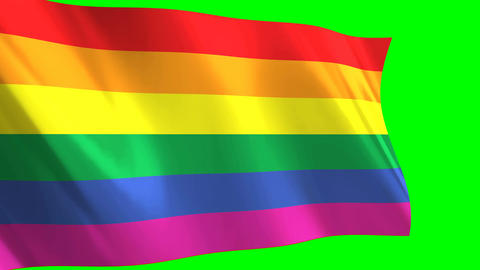 Rainbow gay flag waving Animation