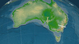 Zoom-in on Australia extruded. Physical Animation