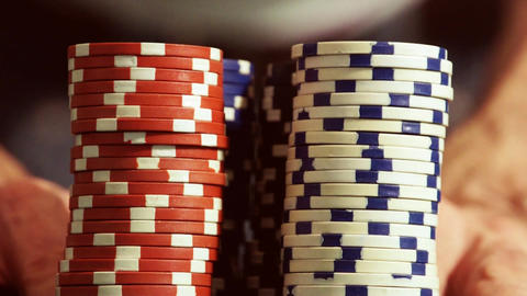 Casino Chips Footage
