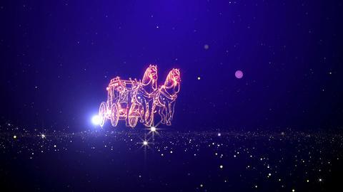 Wedding cart particle animation, Stock Animation