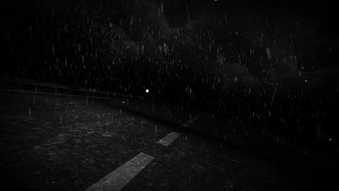 Rainy Road Effects Animation