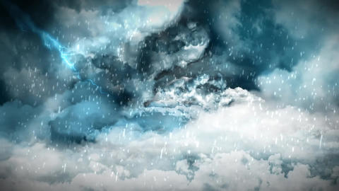 Storm Clouds Title Background Animation