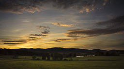 Landscape under the sunset Footage