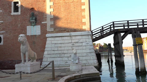 VENICE, ITALY - OCTOBER, 2017: The building of the arsenal in Venice, Italy Footage