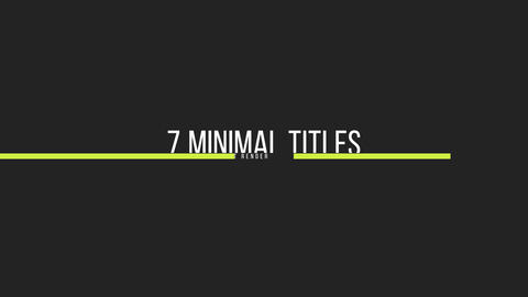 5 Simple Titles Motion Graphics Template