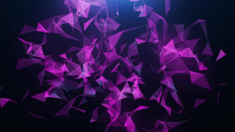 Abstract pink plexus triangle background Animation
