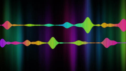 Spectrum of electronic digital audio Animation