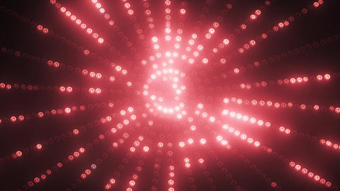 Red circle led animated VJ background Animation