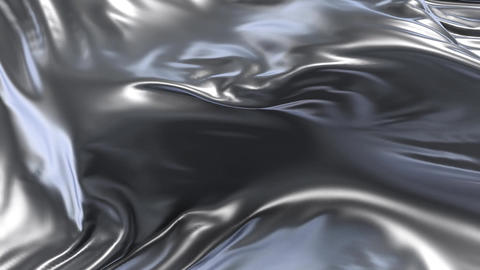 Animation of silver fabric Stock Video Footage