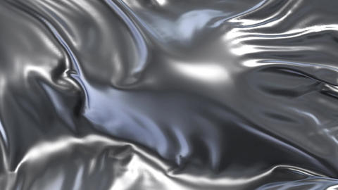 Animation of silver fabric Animation