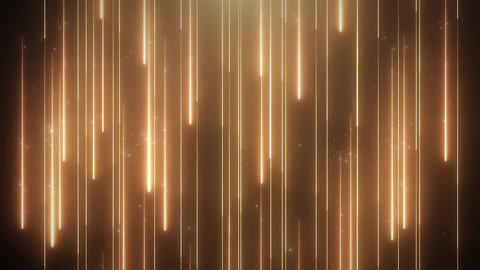 Neon golden animation VJ background with shiny particles CG動画