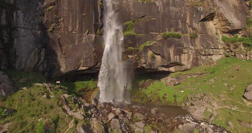 Waterfall Creates a Rainbow Footage
