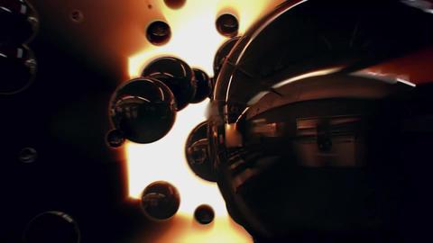 3D Dark Glossy Spheres Intro Logo Animation Background Backdrop Animation