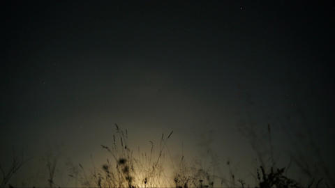 Time lapse moon in sky Footage