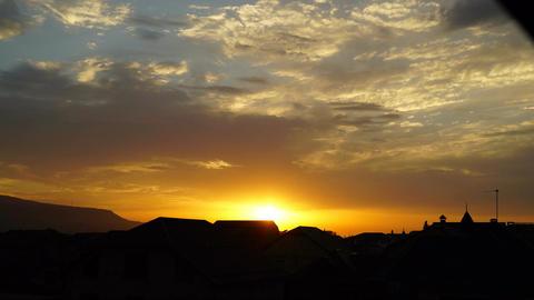 Sunset in city Filmmaterial