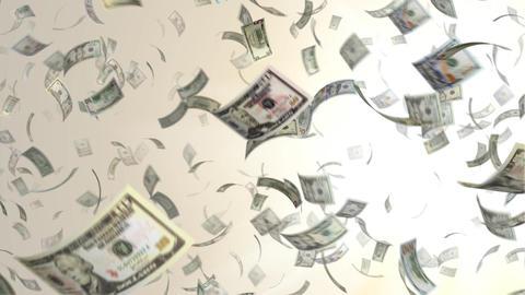 Flying dollar bill Animation