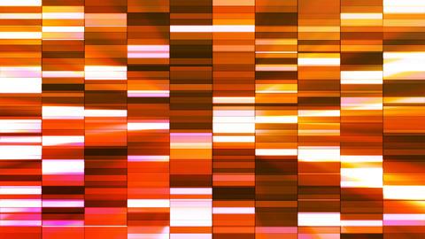 Twinkling Horizontal Small Squared Hi-Tech Bars, Orange, Abstract, Loopable, 4K Animation