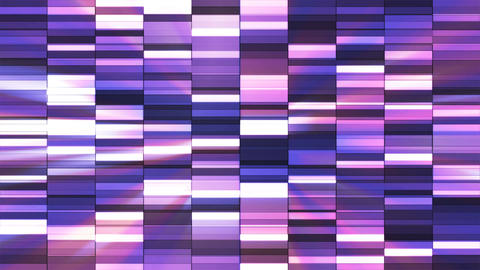 Twinkling Horizontal Small Squared Hi-Tech Bars, Purple, Abstract, Loopable, 4K CG動画素材