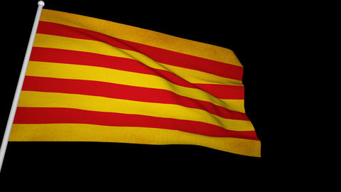 Flag Catalonia 01 Animation