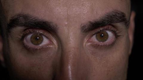 Extreme close up detail of hazel eyes Footage