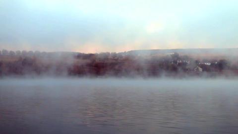 Foggy lake Footage