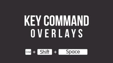 Key Command Overlays For Tutorials Premiere Proテンプレート