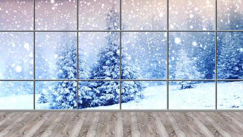 Christmas-17 Broadcast TV Studio Green Screen Background Loopable ライブ動画