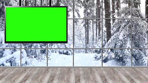 Christmas-22 Broadcast TV Studio Green Screen Background Loopable ライブ動画