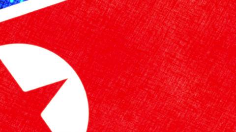 North Korea Grunge Flag Image