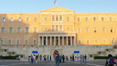 ATHENS - GREECE, JUNE 2015: greek parliament view Footage