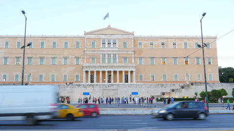 ATHENS - GREECE, JUNE 2015: Greek Parliament View stock footage